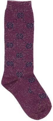 Gucci Gg Supreme Cotton Blend Knit Socks