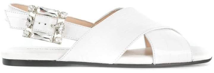 Anna Baiguera embellished buckle sandals