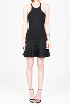 Donna Mizani Mini Flounce Dress In Black