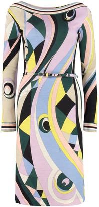 Emilio Pucci Printed Wool Dress