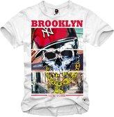 E1syndicate T-Shirt Brooklyn New York Skull Rap Hip Hop Nwa Run Dmc S/M/L/Xl