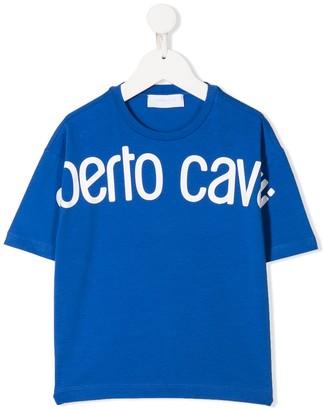Roberto Cavalli Junior oversized logo T-shirt