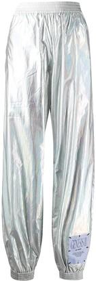 McQ Metallic Silver Track Pants