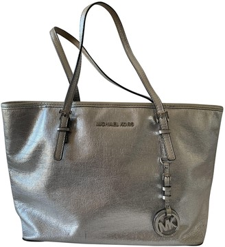 Michael Kors Jet Set Silver Fur Handbags