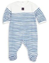Petit Bateau Baby's Striped Cotton Footie