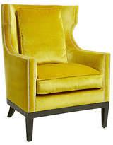 Kim Salmela Roswell Wingback Chair - Citrine Velvet