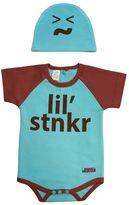 """Sozo Baby lil' stnkr"""" Bodysuit Set"""