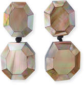 Viktoria Hayman Faceted Double-Drop Mother-of-Pearl Earrings