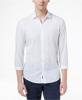 Michael Kors Men's Slim-Fit Stitch-Pattern Cotton Shirt
