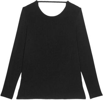Pink Label Nancy Backless Long Sleeve Top