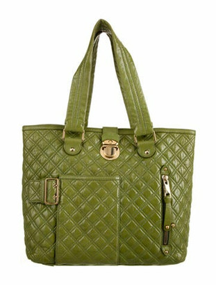 Marc Jacobs Patent Leather Quilted Tote Green