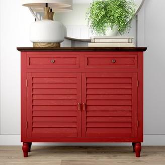 Stanton Shutter 2 Door Accent Cabinet August Grove Color: Red