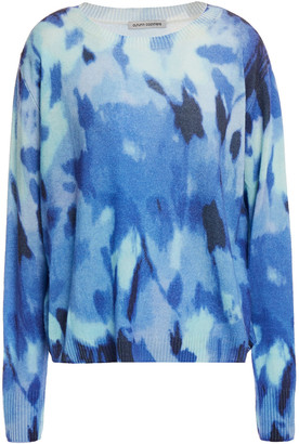 Autumn Cashmere Boxy Floral Printed Cashmere Sweater