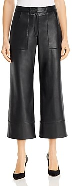Elie Tahari Tara Faux Leather Wide-Leg Pants