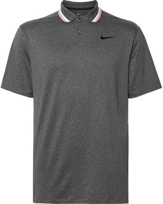 Nike Vapor Logo-Embroidered Striped Stretch Dri-Fit Golf Polo Shirt