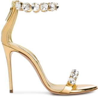 Casadei Crystal Embellished Sandals