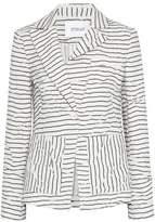 Derek Lam 10 Crosby Crinkled Striped Twill Jacket
