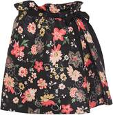 RED Valentino Pleated Floral-print Faille Mini Skirt