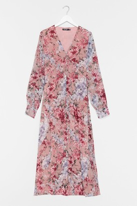 Nasty Gal Womens Bud Thinking Floral Maxi Dress - Pink - 4