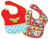 Bumkins DC Comics Super Bib, Wonder Woman Icon, 6-24 Months, 2 Pack by