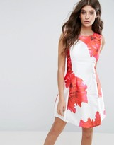 AX Paris Floral Skater Mini Dress