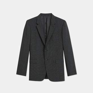 Theory Wool Checkerboard Chambers Blazer