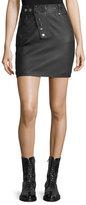 Alexander Wang High-Waist Leather Mini Skirt