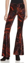 Free People Float Away Printed Velvet Pants