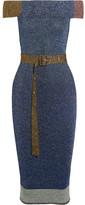 Christopher Kane Off-the-shoulder Metallic Ribbed-knit Midi Dress - x large