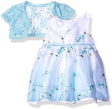 "Youngland Baby Girls' ""Meandering Blossoms"" Dress with Shrug"