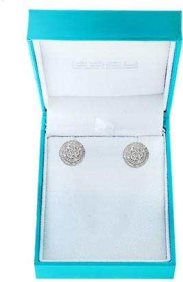 Effy Diamond & 14K White Gold Circle Stud Earrings