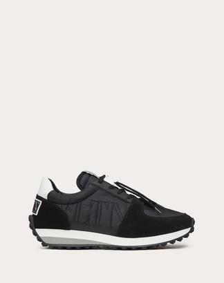 Valentino Garavani Uomo Vltn Roller Fabric Sneaker Man Black/white Polyester 100% 42