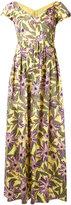 RED Valentino floral popeline midi dress - women - Cotton/Polyester/Spandex/Elastane/Acetate - 40