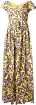 RED Valentino floral popeline midi dress - women - Cotton/Spandex/Elastane/Acetate/Polyester - 42