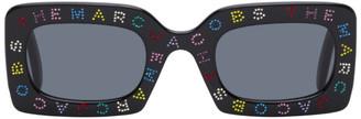 Marc Jacobs Black The Logo Rectangular Sunglasses