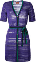 Missoni buttoned belted dress