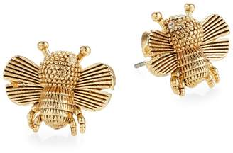 Kate Spade All Abuzz Goldtone Crystal Stud Earrings