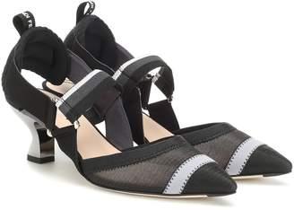 Fendi Colibri slingback kitten heel pumps