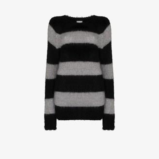Erdem Heath striped mohair sweater