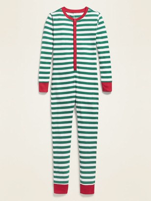 Old Navy Graphic Henley One-Piece Pajamas for Boys