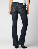 True Religion Womens Hand Picked Champagne Crystal Outline Bootcut Jean