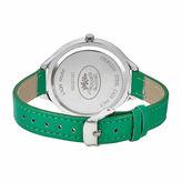 Laura Ashley Geo Print Dial Womens Green Strap Watch-LA31023GN