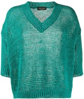 Roberto Collina oversized v-neck crochet jumper