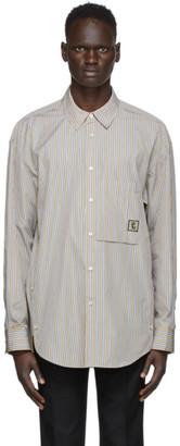 Wooyoungmi Beige Striped Logo Shirt