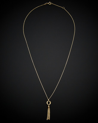 Italian Gold 14K Tassel Necklace