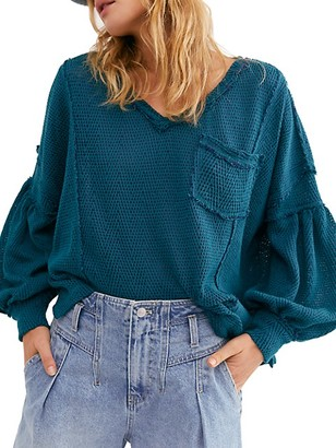 Free People Fresh And New Chevron-Knit Pullover