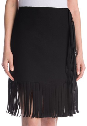 MSGM Fringed Mini Skirt