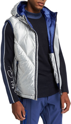 Stefano Ricci Men's Hooded Down Ski Vest