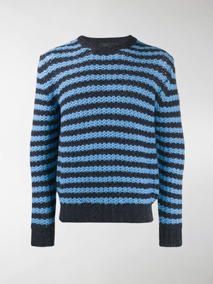 Prada Striped Knit Sweater