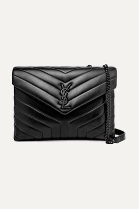 Saint Laurent Loulou Medium Quilted Leather Shoulder Bag - Black